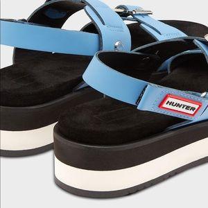Hunter Blue Platform Sandal
